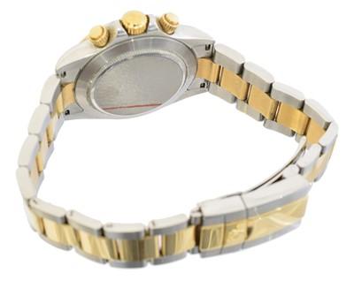 Lot A bi-colour Rolex Oyster Perpetual Cosmograph Daytona wristwatch