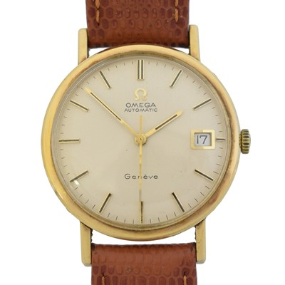 Lot A 1970s 9ct gold Omega Geneve automatic watch