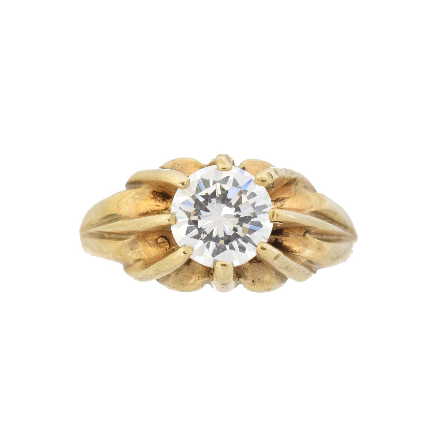 Lot 17 - A 9ct gold cubic zirconia single stone ring