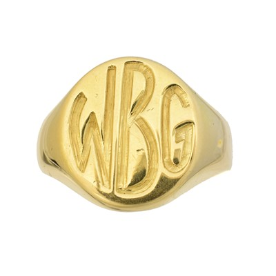 Lot 117 - An 18ct gold signet ring
