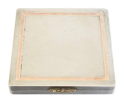 Lot 107 - An Elizabeth II silver compact