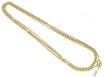 Lot 64 - An early 20th century 15ct gold longuard chain