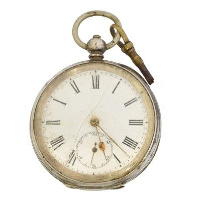 Lot 59 - A silver open face pocket watch