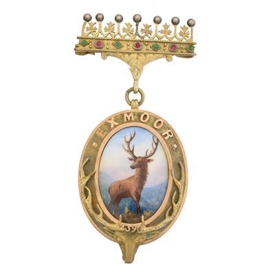 Lot 13 - Masonic interest, A silver gilt lodge medallion, Exmoor lodge 2390