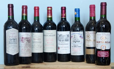 Lot 1 - 8 Bottles Mixed Lot Good Red Mature Drinking Wine to include well known Claret