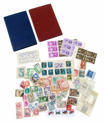 Lot 66 - Two small stockbooks mainly GB and Commonwealth stamps