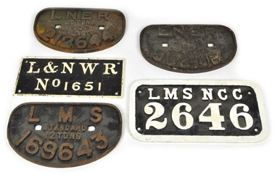 Lot 7 - Collection of Wagon Plates