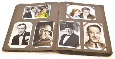 Lot 67 - Postcard Album of Movie Stars