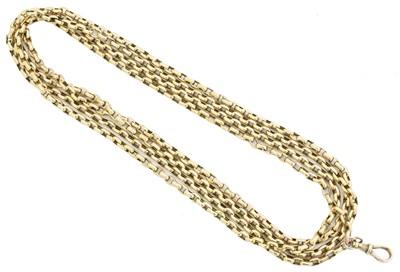 Lot 53 - A longuard chain