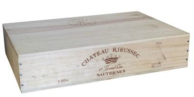 Lot 9 - 6 Bottles in OWC Chateau Rieussec Premier Cru Classe Sauternes 2016