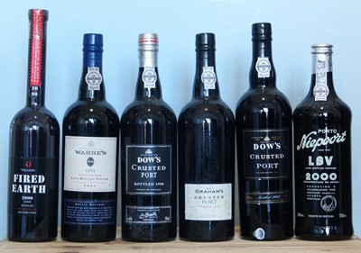 Lot 18 - 6 Bottles Mixed Lot of fine Port including 'Crusted' and Fortified Red Wine