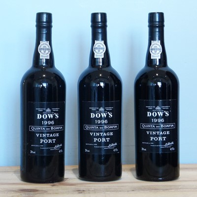 Lot 20 - 3 Bottles Dow's Quinta do Bomfim Vintage Port 1996