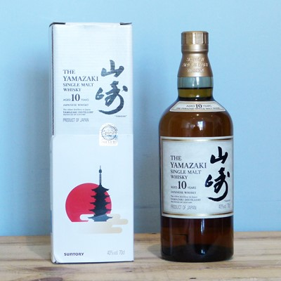 Lot 37 - 1 Bottle 'The Yamazaki' Japanese Single Malt Whiskey 'Aged 10 years' in Presentation Carton