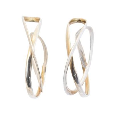 Lot 39 - A pair of Georg Jensen silver 'Infinity' earrings