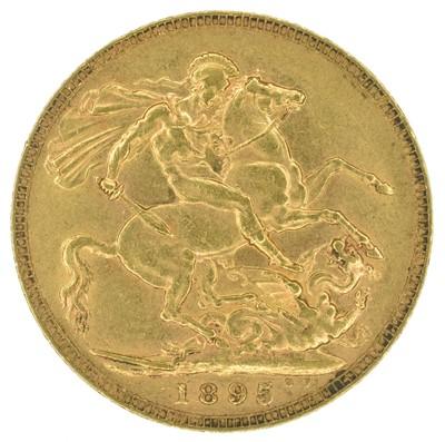 Lot 31 - Queen Victoria, Sovereign, 1895, London Mint.