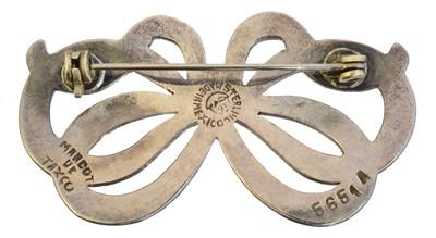 Lot 3 - A silver and enamel brooch by Margot De Taxco