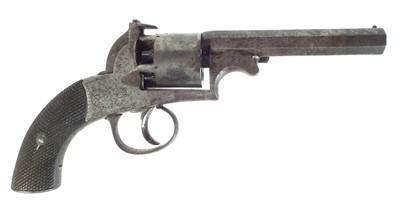 Lot 241 - English Bentley type percussion .120 bore revolver