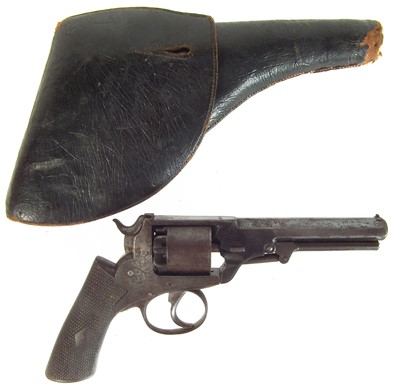 Lot 255 - English percussion revolver and holster