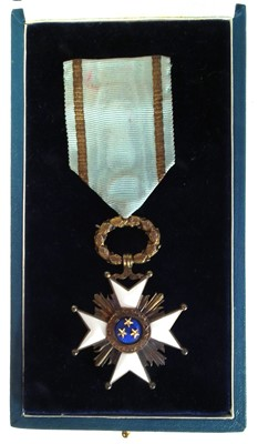 Lot 113 - Order of the three stars medal