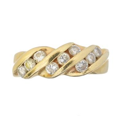 Lot 91 - A diamond band ring