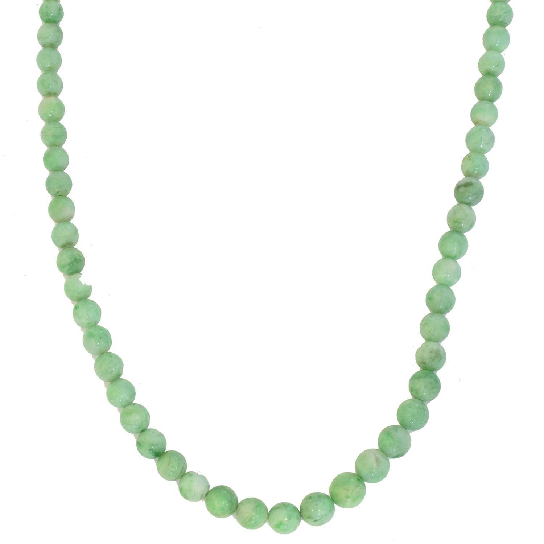Lot 43 - A jade necklace