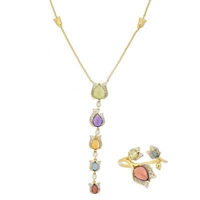 Lot 70 - A multi-gem necklace