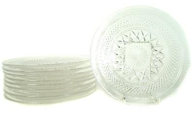 Lot 115 - Nine cut glass ice plates