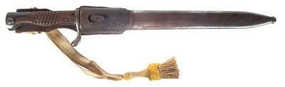 Lot 74 - German WWI 1898 'butcher' bayonet