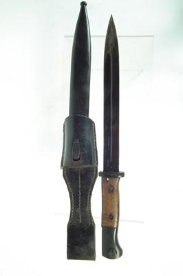 Lot 96 - German Mauser K98 S.84/98 WWII bayonet