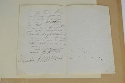 Lot 69 - Signature of Cesar Franck (1822-1890)