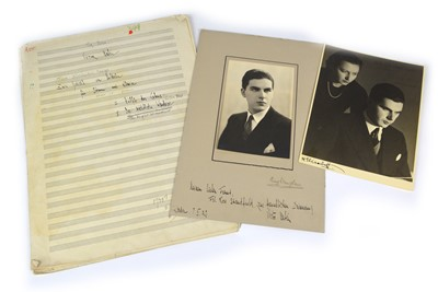Lot 70 - Victor Babin Signatures and hand-annotated sheet music