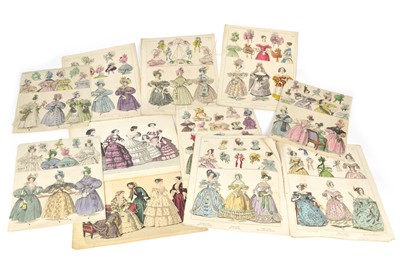 Lot 49 - 14 hand-coloured plates from Townsend's Monthly Selection of Parisian Costumes