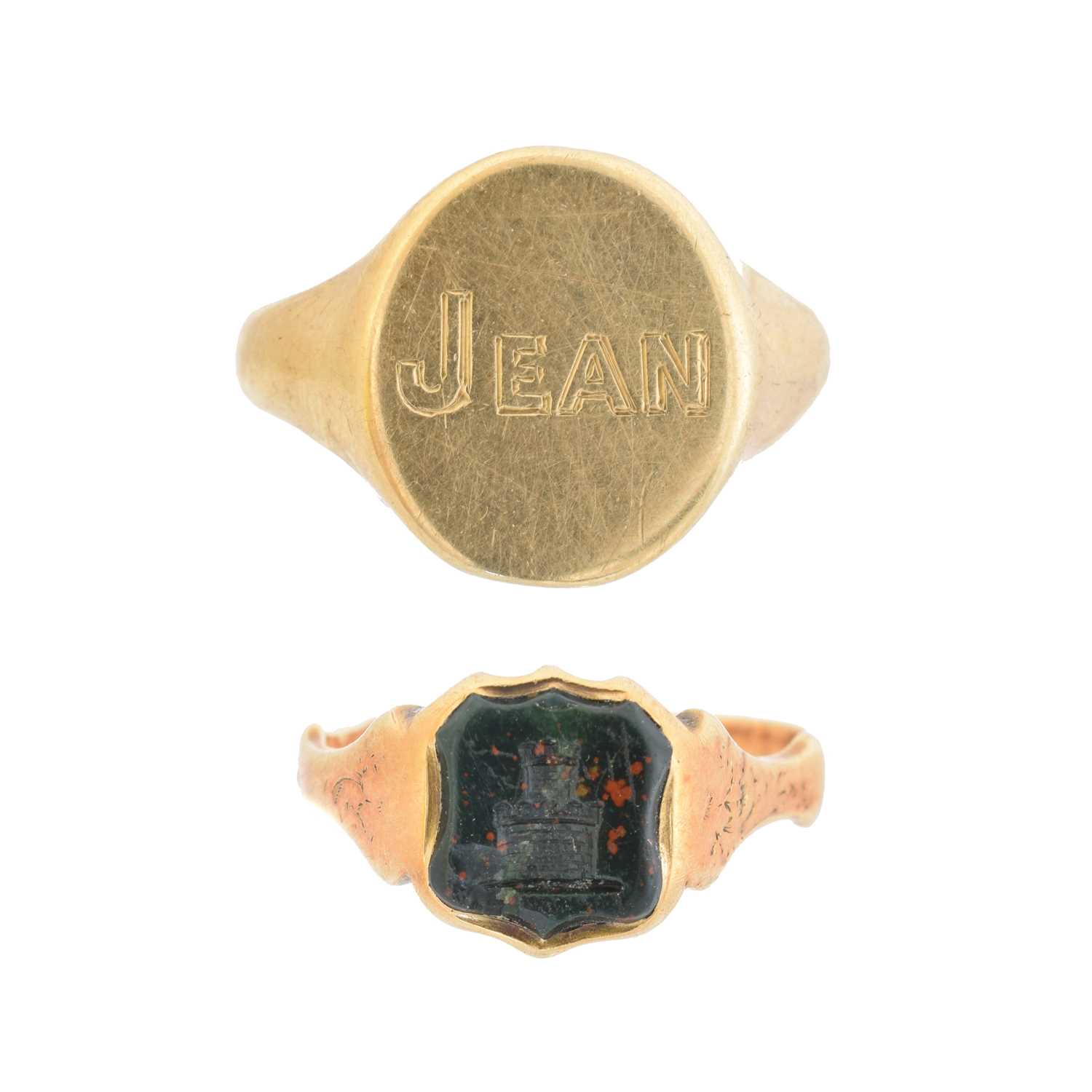 Lot 19 - Two signet rings