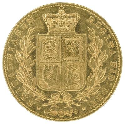Lot 24 - Queen Victoria, Sovereign, 1847.