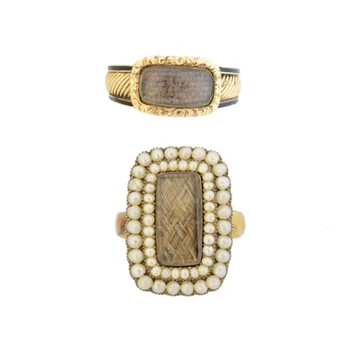 Lot 124 - Two late Victorian mourning rings