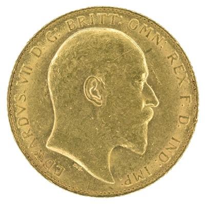 Lot 48 - King Edward VII, Sovereign, 1908, London Mint.