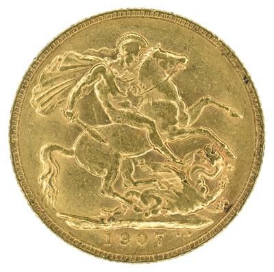 Lot 49 - King Edward VII, Sovereign, 1907, London Mint.