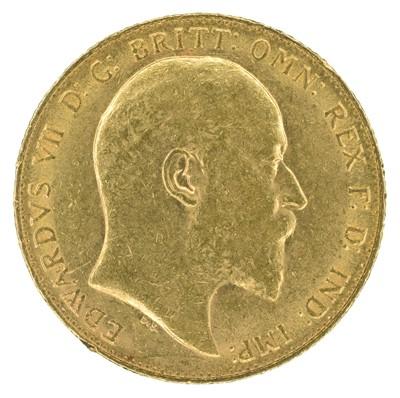 Lot 50 - King Edward VII, Sovereign, 1910, London Mint.