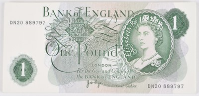 Lot 77 - Thirty-six Bank of England consecutive One Pound banknotes, J.B. Page, UNC.