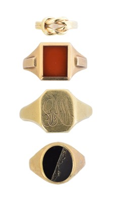Lot 122 - Four 9ct gold rings