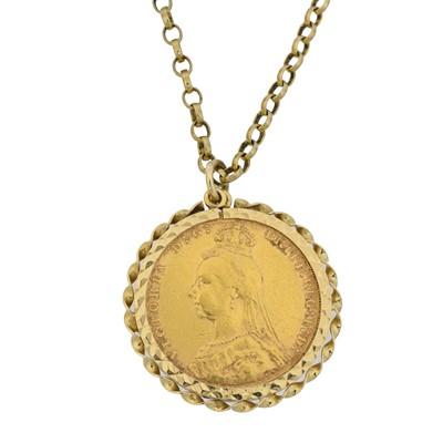 Lot 58 - A Victorian sovereign pendant