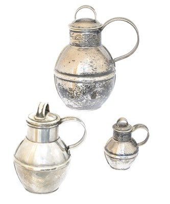 Lot 97 - Three Channel Islands silver Bruce Russell Guernsey cans