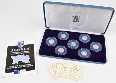 Lot 66 - The Royal Mint Jersey Shipbuilding Series 1991-1994 Silver Proof One Pound Collection.