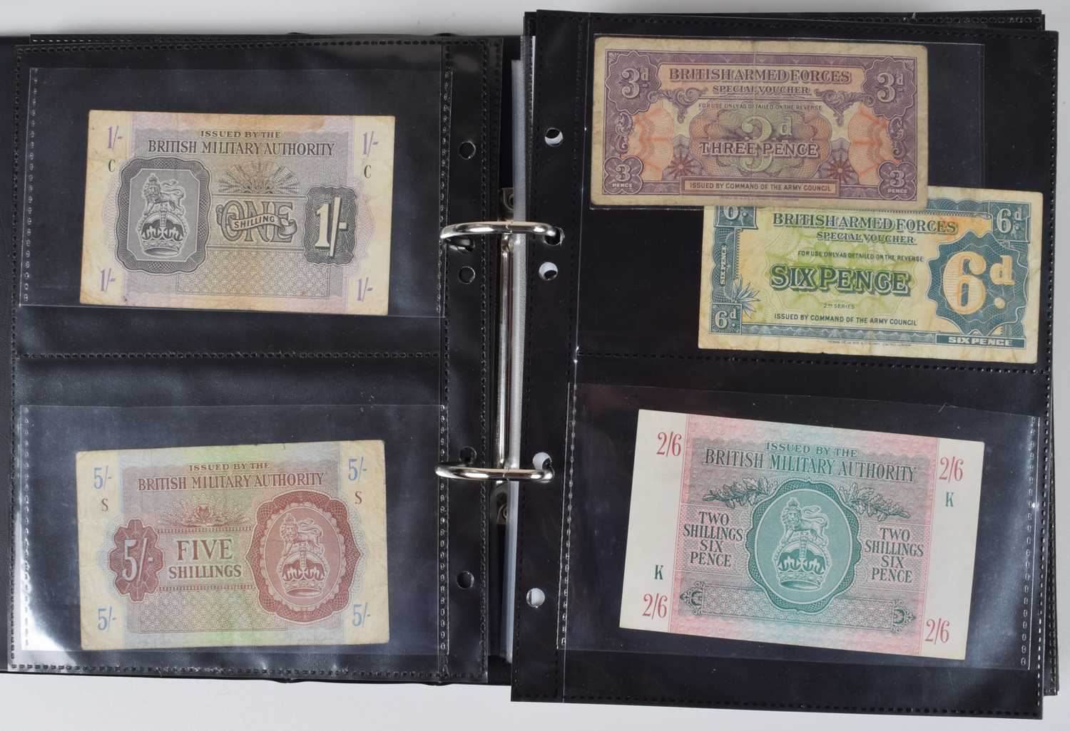 Lot 69 - Selection of foreign banknotes to include WW1 and WW2 German Prisoner of War banknotes.