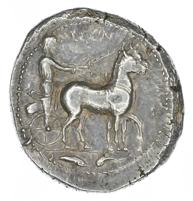 Lot 2 - Sicily, Messana, silver tetradrachm.