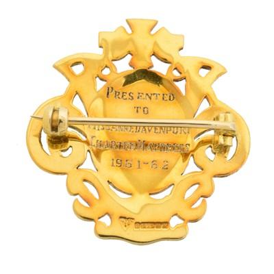 Lot 5 - A 9ct gold enamel brooch by Garrard & Co.
