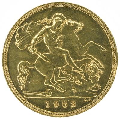 Lot 55 - Two Queen Elizabeth II, Half-Sovereigns, 1982 (2).