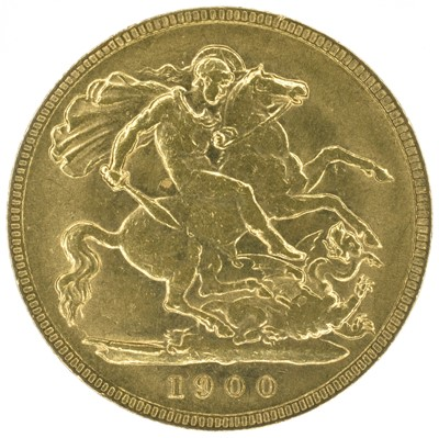 Lot 13 - Two Queen Victoria, Half-Sovereigns, 1900 and 1901 (2).