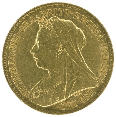 Lot 14 - Two Queen Victoria, Half-Sovereigns, 1898 and 1900 (2).