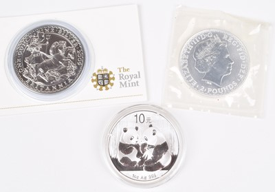 Lot 69 - Three one ounce silver coins (3).
